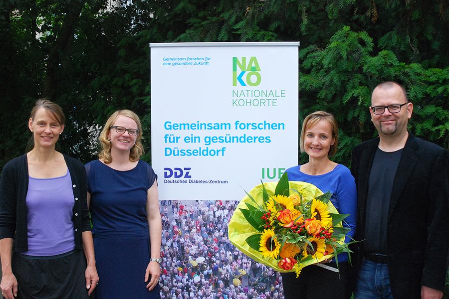 Die 1000ste Probandin im NAKO-Studienzentrum Düsseldorf