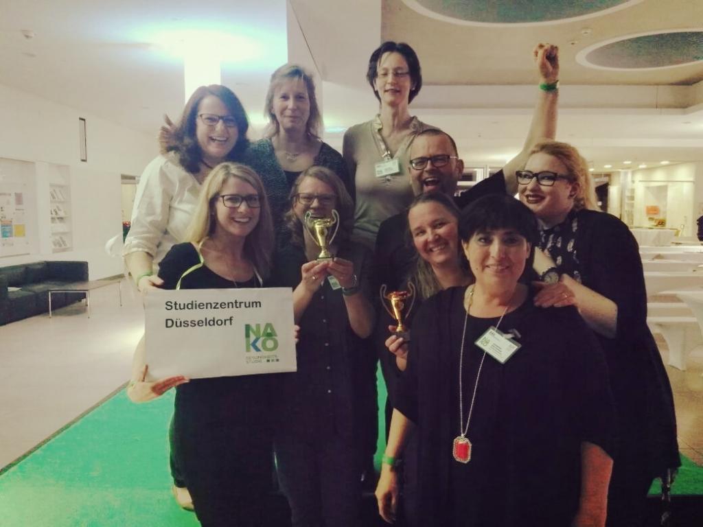 Das Team Düsseldorf hat den goldenen NAKO-Oscar in Hannover gewonnen.
